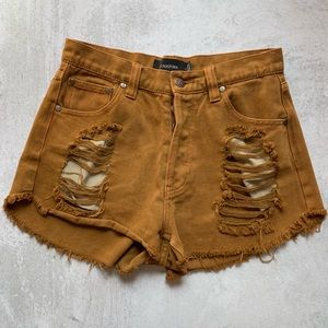 MINKPINK • the native story slasher shorts - camel